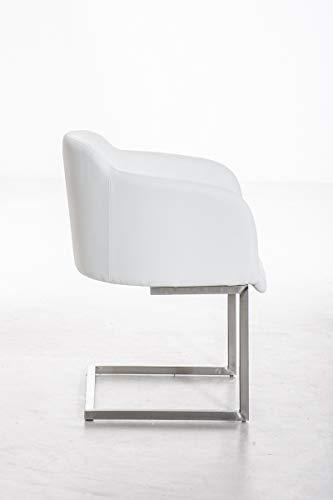 lll clp edelstahl freischwinger stuhl magnus armlehne sitzfl che lehne gut gepolstert die. Black Bedroom Furniture Sets. Home Design Ideas