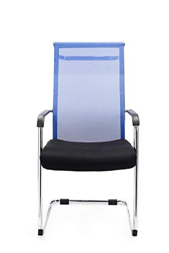 CLP Freischwinger-Stuhl mit Armlehne BRENDA, Blau - 3