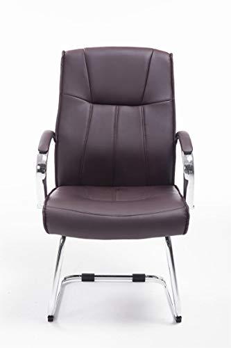 CLP Besucher Freischwinger-Stuhl BASEL V2 mit Armlehne – gepolstert braun - 3