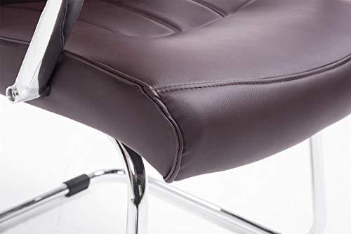 CLP Besucher Freischwinger-Stuhl BASEL V2 mit Armlehne – gepolstert braun - 8