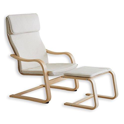 Relax - Sessel LINA beige mit Fußteil